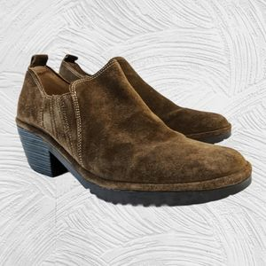 Fly London Suede Slip-on  Bootie